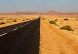 Straight Lonesome Road, Namibia poster
