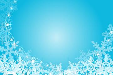 Snowflake Frame, Blue