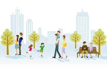 People in Urban park