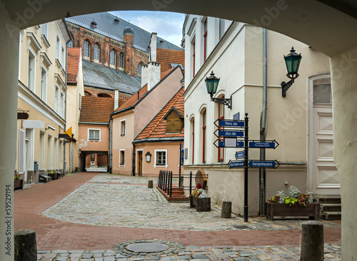 In old town of Riga -capital of Latvia, Europe