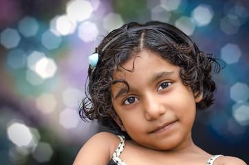 portrait of smiling girl child