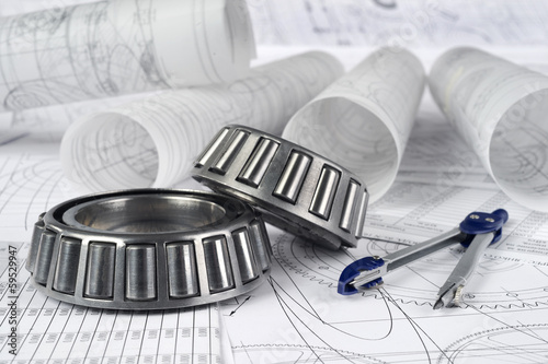 roller bearings, compasses  and drawings