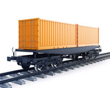 Wagon of freight train