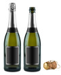 champagne bottle set
