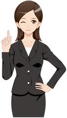女性 スーツ ポイント
