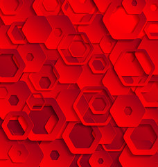 Red abstract paper template