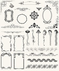 vector set design elements and page decoration.