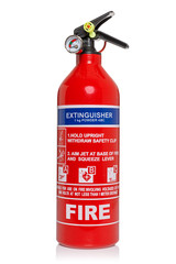 Fire extinguisher isolated on white with clipping path