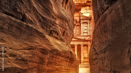 Foto op Aluminium Oude gebouw Siq in Ancient City of Petra, Jordan