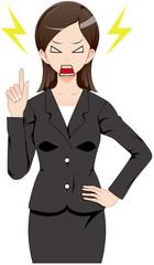 女性 スーツ 説教