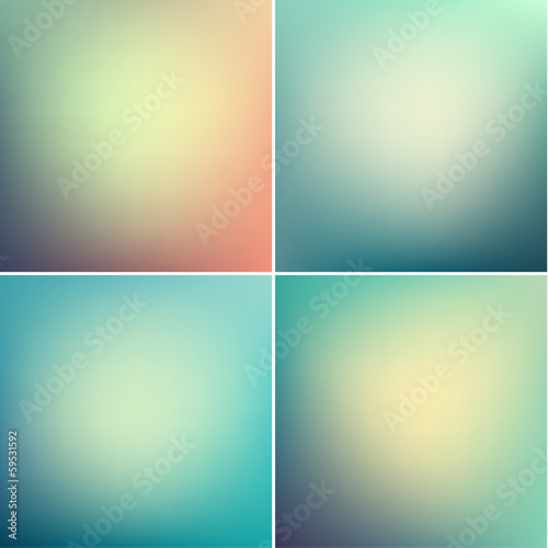 Smooth colorful backgrounds collection with aged effect