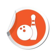 Bowling icon. Vector illustration