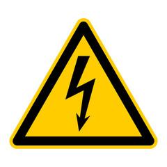 Warnschild - Gefährliche elektrische Spannung high voltage
