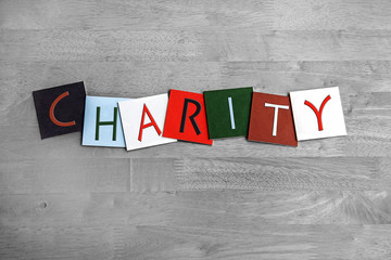 Charity sign for advertising, business & charities