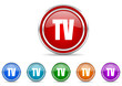 tv icon vector set