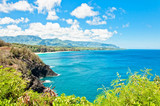 Kauai north shore in a sunny day, Hawaii Islands
