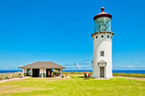 Kilauea lighthouse on Kauai's north shore, Hawaii
