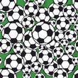 seamless soccer ball / football pattern, vector illustration