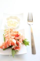 boiled shrimp and mayonnaise salad