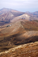 from the top in lanzarote spain africa and house