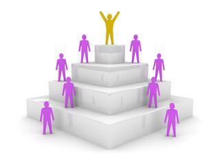 Social hierarchy. Leadership. Concept 3D illustration.