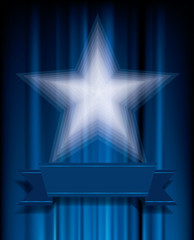 blue trans star
