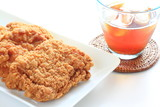 Fried chicken and iced tea