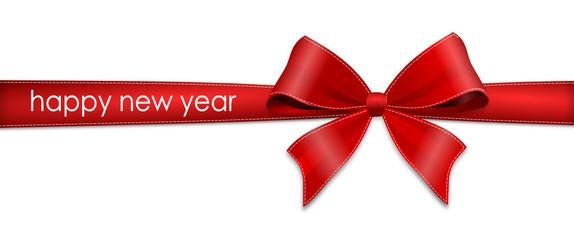 Schleife rot - happy new year