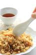 Japanese food, roasted pork fried rice