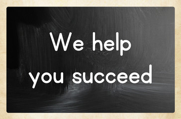 we help you succeed