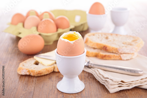 boiled egg and bread