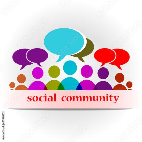 иллюстрация форум социальное сообщество