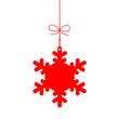 """Etiquette """"Flocon de Neige"""" (Noël joyeuses fêtes joyeux)"""