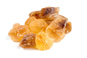 brown caramelized sugar over white