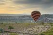Balloon in Cappadocia over the vineyards