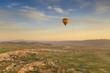 Balloon in Cappadocia over the hills