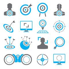 goal, dart icons