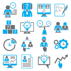 business icons, human resource management icons