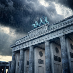 Brandenburg Gate in Rain