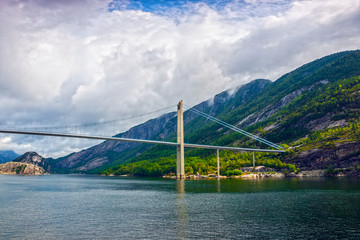 Norway fjord landscape with summer.