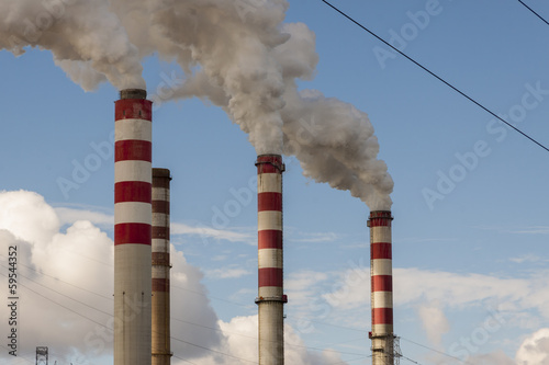 Big pollution in Polish Power Plant - Patnow, Konin.
