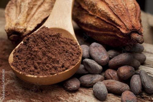 Fotobehang Kruidenierswinkel cocoa