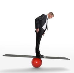 Concept business et équilibre