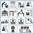 shipping icons, manufacturing icons