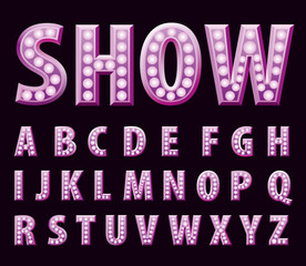 purple show alphabet