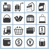 shopping icons, modern trade icons
