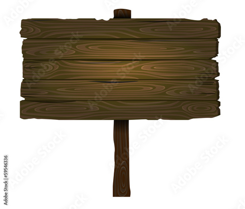 vector wooden sign