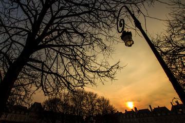 Place des Vosges by sunset, Paris