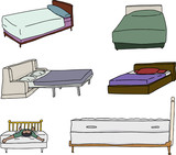 Various Bed Cartoons