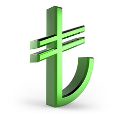 3d Turkish Lira Symbol